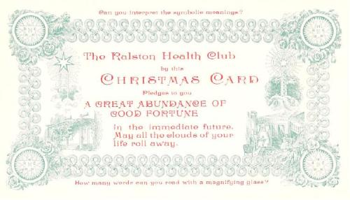 Ralston Christmas Card - 1897